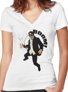 Brother Hazard Goes To War Women's Fitted V-Neck T-Shirt