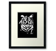 TIGER IN CHALK COLLECTION  Framed Print