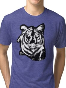 TIGER IN CHALK COLLECTION  Tri-blend T-Shirt