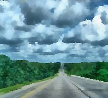 A Cloudy Drive by Linda Miller Gesualdo