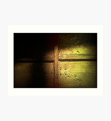 Golden olden doors Art Print