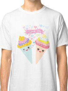 I love you Kawaii Ice cream waffle cone Classic T-Shirt