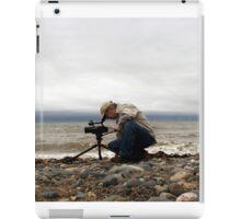 Filming on the Beach iPad Case/Skin