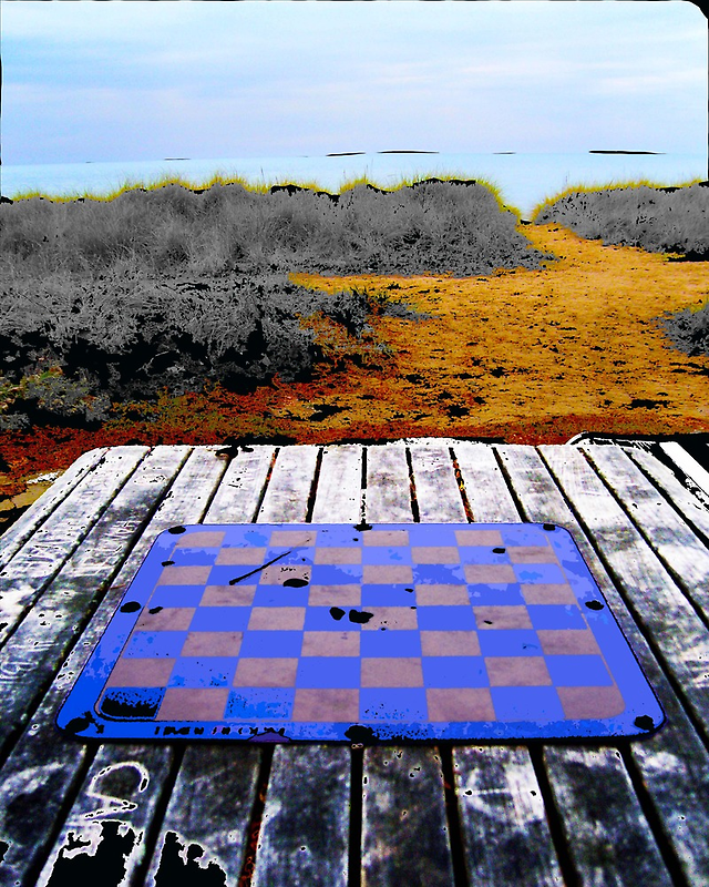 Checkers on the Beach - Chicago, IL by Johnathan Lynch