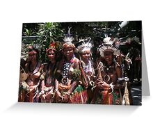 Papua New Guinea Dancing 8 Greeting Card
