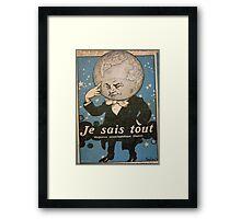 Jules Alexandre Grün Je Sais Tout 2 Framed Print