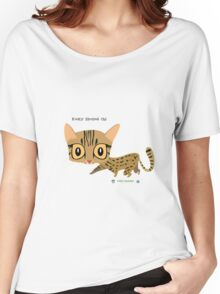 Rusty Spotted Cat Women's Relaxed Fit T-Shirt