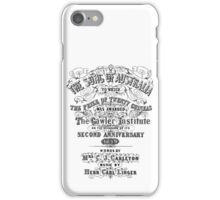 Vintage Poster - The song of australia iPhone Case/Skin