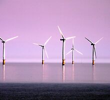 Reflection on Windpower - Skegness by Stephen Willmer
