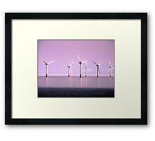 Reflection on Windpower - Skegness Framed Print