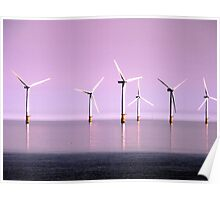 Reflection on Windpower - Skegness Poster