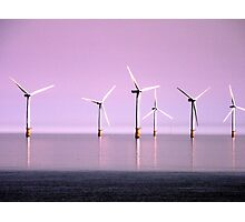Reflection on Windpower - Skegness Photographic Print