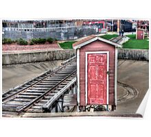 Tarantula Train Turntable - Fort Worth Stockyards Poster