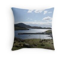 Teelin Pier from the Holy Well Throw Pillow