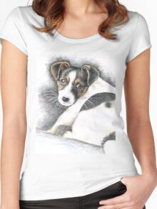Jack Russell Terrier Puppy Women's Fitted Scoop T-Shirt