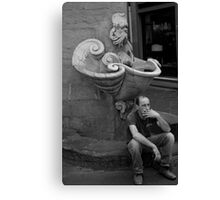 peoplescapes #286, smoko Canvas Print