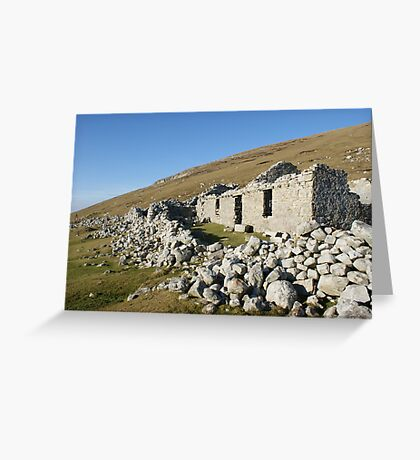 Old deserted house in Port Greeting Card