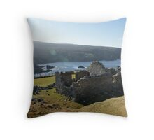 Old deserted house in Port Throw Pillow
