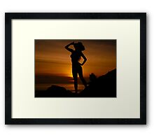 Sexy Woman Silhouette Framed Print