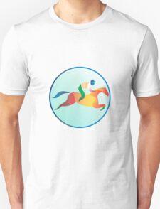 Equestrian Show Jumping Circle Retro T-Shirt