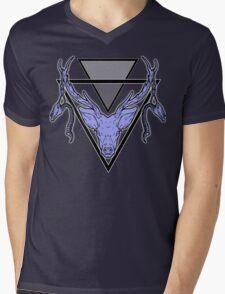 Triangle Deer H 2 Mens V-Neck T-Shirt