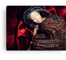 Meanwhile... Marbie And Wicker Sqrl At The Black Lodge Canvas Print