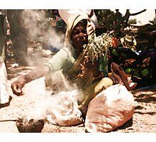 Street Vendor at T Narasipura Cart Festival Photographic Print