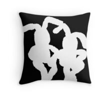 """White Bunnies"" Throw Pillow"