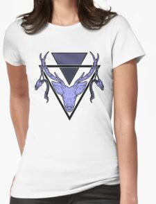 Triangle Deer Womens Fitted T-Shirt