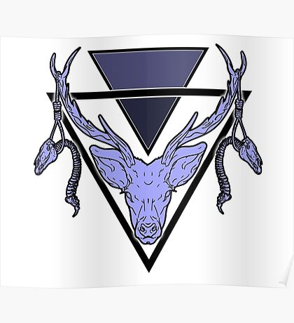 Triangle Deer Poster