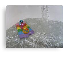 Duckie Water Fun Canvas Print
