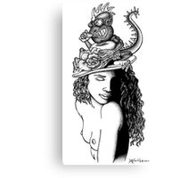 Dragon Hat Canvas Print