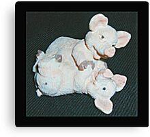 Playful Pigs Canvas Print