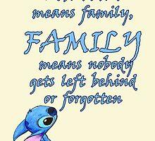 Lilo & Stitch (DIsney) - Ohana Family Quote by emapremo
