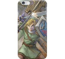 The Legend of Zelda - Link Fighting For Zelda iPhone Case/Skin