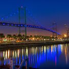 The Vincent Thomas Bridge by Eddie Yerkish