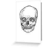 Line art skull drawing Greeting Card