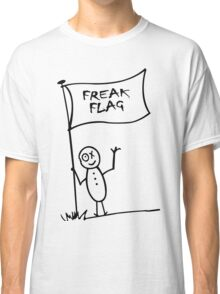 Freak flag geek funny nerd Classic T-Shirt