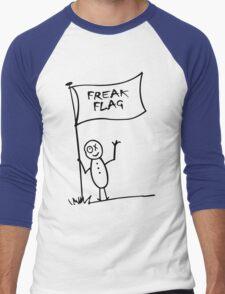 Freak flag geek funny nerd Men's Baseball ¾ T-Shirt