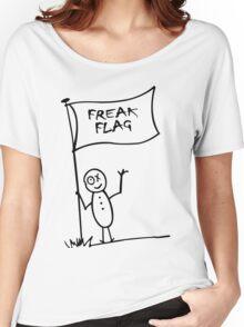 Freak flag geek funny nerd Women's Relaxed Fit T-Shirt