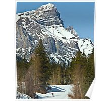 Uphill Skier Poster