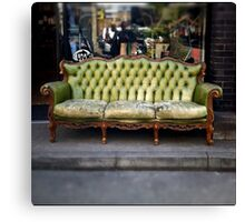 vintage sofa Canvas Print