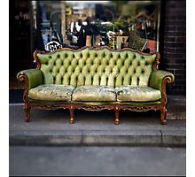 vintage sofa Photographic Print