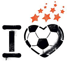 I love football (soccer) Photographic Print