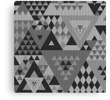 Triangulon - Grey Canvas Print