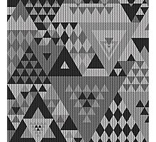 Triangulon - Grey Photographic Print