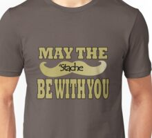 Funny black mustache may the stache be with you geek funny nerd Unisex T-Shirt