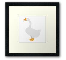 White goose Framed Print