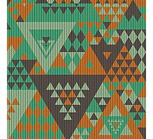 Triangulon - Mint Choc Orange Photographic Print