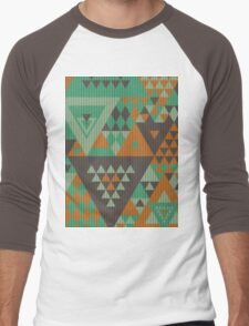 Triangulon - Mint Choc Orange Men's Baseball ¾ T-Shirt